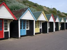 love this row of beach huts