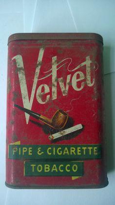 alte Blechdose - Velvet Pipe & Cigarette TOBACCO Dose Tabakdose tin box #2 in Sammeln & Seltenes, Reklame & Werbung, Werbeartikel | eBay