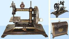 ❤✄◡ً✄❤ This model was called the Colibri. It was manufactured by Bremner & Bruckmann of Germany, late 19th - early 20th Century. The stitch was created by a chain stitch looper. - http://www.dincum.com/library/lib_bremnercolibri.html