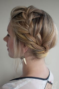 A twist to the classic French braid. It starts from the crown of the head working its way down asymmetrically. It is a soft, fun braid perfect for those warm summer days when you don't want to have your hair down.