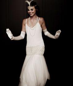 20s wedding dress flapper style