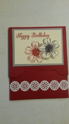 Gift card holder using the new Envelope Punch Board