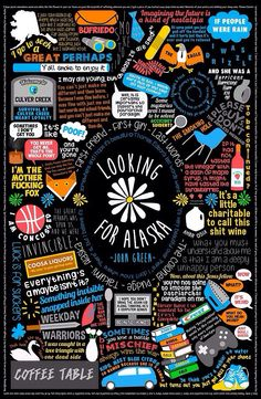 Looking for Alaska - John green. Miles  meets Alaska Young at Culver Creek Boarding School. Bittersweet, self-deprecating and swimming with gorgeous quotes.
