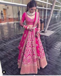 Pink Bridal Lehenga, Designer Bridal Lehenga, Indian Bridal Lehenga, Indian Bridal Outfits, Indian Bridal Wear, Indian Designer Outfits, Pink Lehenga, Floral Lehenga, Pakistani Lehenga