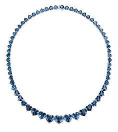Collar de plata con topacios talla corazón de Suárez. Para más información: www.joyeriasuarez.com