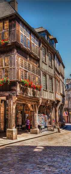 Dinan ~ is a walled Breton town located in Bretagne, northwestern France Places Around The World, The Places Youll Go, Places To See, Around The Worlds, Beautiful World, Beautiful Places, Belle France, Brittany France, Beaux Villages