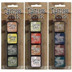 Tim Holtz MINI DISTRESS INK PADS SETS 10 11 and 12 Ranger MINI101112