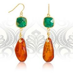 Regenz Baltic Amber and Emerald Retro Style Drop Earrings Brand New Baltic Amber, Stone Jewelry, Retro Fashion, Emerald, Retro Style, Drop Earrings, Jewels, Gemstones, Sterling Silver