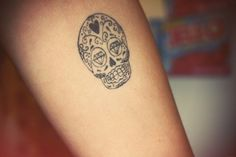 Black ink skull.