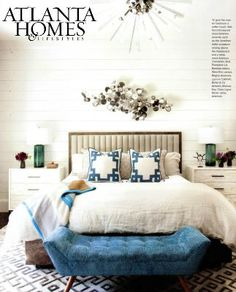 The Hanley Chandelier from Arteriors Home showcases fluted glass triangular rods, embedded in a polished nickel sphere and hanging from a polished nickel pipe. Since this design looks as good from the top as it does from the bottom, it would make a grand statement over a dining table or suspended in a staircase.  As seen in Atlanta Homes magazine