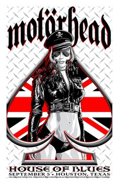 Motorhead - Houston Art by Flynn Prejean at BadMoon Studios