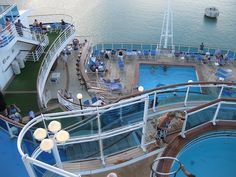 View of the pools at the aft of the ship, Ruby Princess