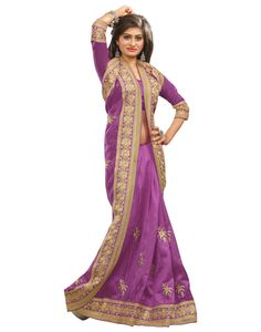 surat-tex-purple-bhagalpuri-silk-exclusive-heavy-embroidery-sarees-with-unstitched-blouse-