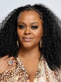 Cool Cornrows - Jill Scott adds a cool edge to her endless waves with a few intricate cornrows in front.