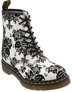 Dr. Martens Boot 1460 W Floral Boots - Black - Women - Elsa.boutique.it #DrMartens