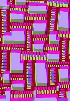 Drawn and digital ladders pattern Art Print