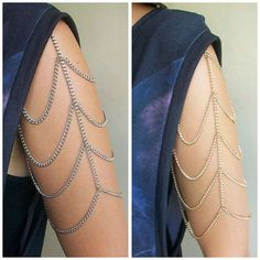 Shoulder Harness Jewelry - The Arm Chain Cascades Gracefully Down Your Sleeve (GALLERY)