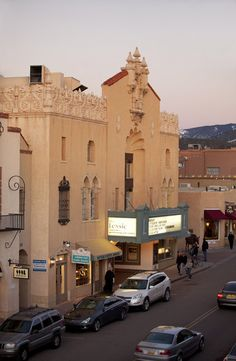 on our drive we also pass the The Lensic Performing Arts Center, Santa Fe NM - another example of the beautiful architecture here.