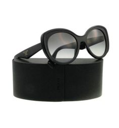 Prada SPR 12P Black Sunglasses