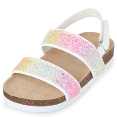 Angel Baby Girls Lime Sparkly Star Strap Sandals 1-3 Baby