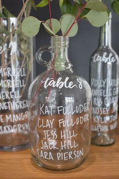 calligraphy bottle escort station | JW Baugh Photography | Glamour & Grace