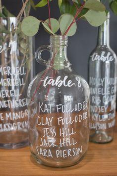 calligraphy bottle escort station   JW Baugh Photography   Glamour & Grace