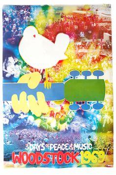 1969 Tie Dye Woodstock Poster from Hippies Hope Shop