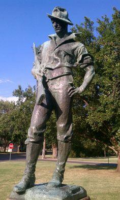 Spanish-American War Memorial in Central Riverside Park Wichita, KS
