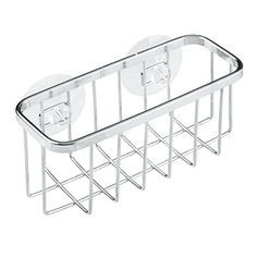The #InterDesign Gia Suction Sink Storage Basket is a convenient way to store and organize scrubbies, sponges, brushes, drain stoppers and more! This rust-resist...