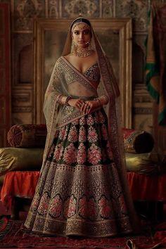 Rasheeda Lehenga by Sabyasachi Indian Bridal Outfits, Indian Bridal Fashion, Indian Designer Outfits, Indian Dresses, Bridal Dresses, Indian Fashion Modern, Sabyasachi Lehenga Bridal, Indian Bridal Lehenga, Anarkali
