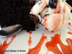 Super αφράτο κέικ με κακάο Ice Cream, Pudding, Desserts, Food, No Churn Ice Cream, Tailgate Desserts, Deserts, Icecream Craft, Custard Pudding