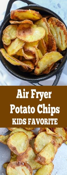 Crunchy perfect potato chips with no guilt because they are made in an air fryer. You can have a bowl or even two. Crunchy perfect potato chips with no guilt because they are made in an air fryer. You can have a bowl or even two. Air Frier Recipes, Air Fryer Oven Recipes, Air Fryer Dinner Recipes, Air Fryer Recipes Potatoes, Air Fryer Recipes Appetizers, Air Fryer Recipes Vegetables, Air Fryer Recipes Snacks, Veggies, Healthy Vegetables