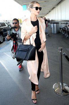 9a7226f4f17e Rosie Huntington - Céline Belt Bag - celebs - New York - black - beige -