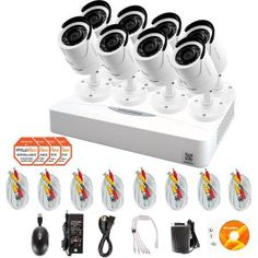 LaView 8 Cameras 16CH Security System 960H DVR with 2TB storage Hdmi and 1000TVL HD Security Cameras Surveillance Kit, White