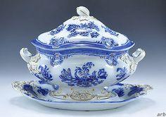 Impressive-Cobalt-Gold-Soup-Tureen-Copeland-Garret-England-1833-1847