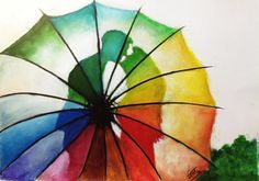 love is in the air :) « rain and sunshine …  oil paints on normal sketching pad…  original pic courtesy : http://500px.com/photo/1993013