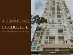 DOUBLE LIFE #ecoville  Pronto para sentir-se em casa!  - 04 Dormitórios (2 Suítes). - 183 m² de área privativa ; - 3 a 4 Vagas de garagem ;  Agende uma visita e venha se encantar!  Mais informações: (41)9819-0829 - WhatsApp.  #imóveiscuritiba #doublelifeecoville
