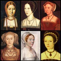 Les 6 épouses d'Henry le XVIIIe...  Catherine d'Aragon (répudiée)  Anne Boleyn (décapitée)  Jane Seymour (morte en couche)  Anne de Clèves (répudiée)  Katherine Howard (décapitée)  Catherine Paar (... a survécu à son roi !)