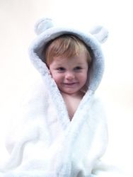 Little Giraffe Luxe Hooded Towel with Ears...I think this may close with Velcro which may be a great addition for quick covering.