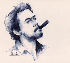 Ballpoint Pen - Robert Downey Jr. by kleinmeli.deviantart.com on @deviantART