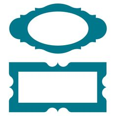 """AccuCtu P1026 Frames #3 - Oval 5""""w x 2 9/16""""h, 3 1/8""""w x 1 3/4"""" opening, Rectangle 5""""w x 2 9/16""""h, 4""""w x 1 9/16""""h opening"""
