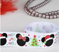 "Aliexpress.com : Buy Free Shipping 50 yards 7/8"" 22mm Christams Mickey Minnie printed grosgrain ribbon hairbow wholesales xf from Reliable ribbon suppliers on Dodo Shop 715204"