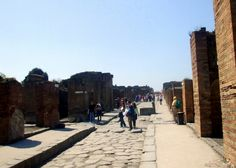 The entire layout of the city of Pompeii is completely preserved.