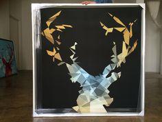 MY DEER darkblue Art Series, Evolution, Deer, Dark Blue, Deep Blue, Dark Teal
