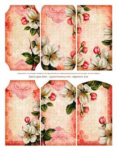 PaperWhimsy :: Collage Images Print or PDF :: Fanciful Bits :: Digi 254