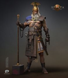 character art for Sparta: War Of Empires - Model by Artist Oleksii Korchyk - Concept Art by Art Generalist Yevhenii Bychkov - Art Direction by Art Producer Stanislav Shchoholiev © Plarium, 2020 Fantasy Concept Art, Fantasy Armor, 3d Character, Character Concept, Viking Battle, Medium Armor, 3d Artist, Zbrush, Fantasy Characters