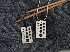 Knitting Needle Gauge Necklace