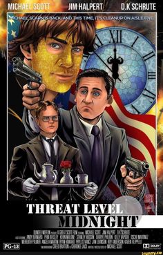 Full 'Threat Level Midnight' Released from 'The Office' With Steve Carell – Home Office Wallpaper The Office Show, Office Tv, Office Workspace, Dundee, Threat Level Midnight, Office Jokes, Office Wallpaper, Wallpaper Ideas, Office Birthday