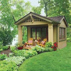 Could you live in a 12x12 shed with a cozy cottage feel!