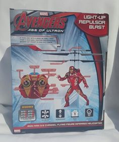 Avengers Iron Man 35 Channel Flying Infrared Helicopter Lights Super Hero Action Phrases ** Be sure to check out this awesome product.